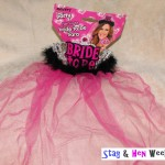 Bride to Be Tiara with Fur & Veil - Pink - Black