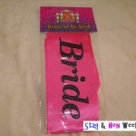Bride to Be Sash pink black