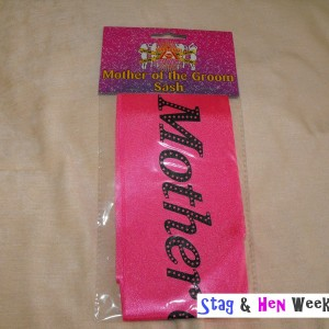 Mother of the Groom Sash Pink Black